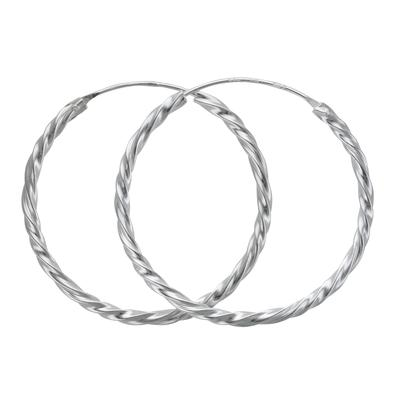 Orecchini Argento 925 Spirale Eterno Eterna Passante