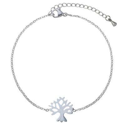 Bracelet Acier inoxydable Feuille Motif_floral