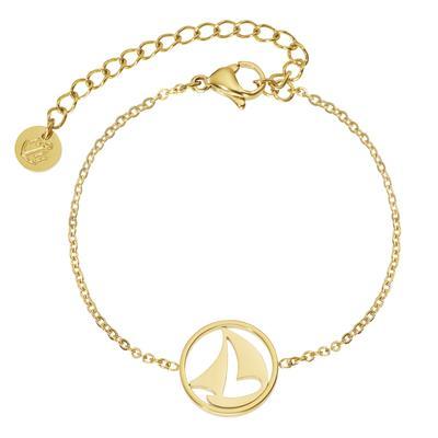PAUL HEWITT Armband Edelstahl PVD Beschichtung (goldfarbig) Anker Seil Schiff
