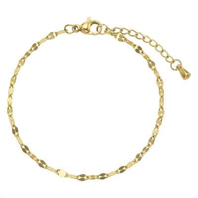 Bracelet Acier inoxydable Revêtement PVD (couleur or)