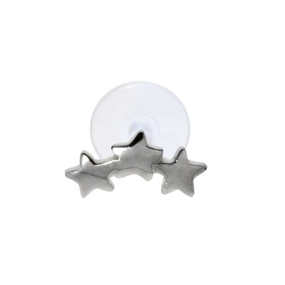 Piercing orecchio Argento 925 Bioplast Stella