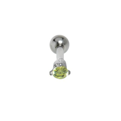 Piercing orecchio Metallo chirurgico 316L Ottone con rivestimento in argento Zircone