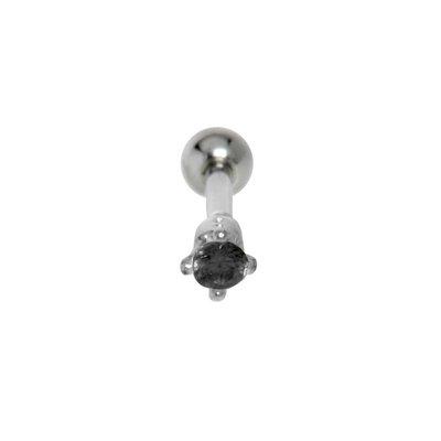 Ohrpiercing Chirurgenstahl 316L Messing mit Silberbeschichtung Zirkonia