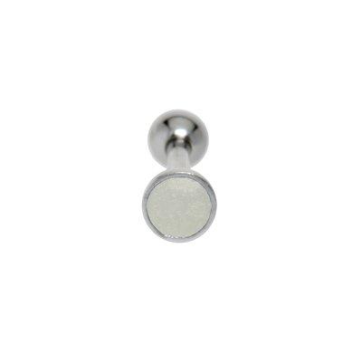 Ohrpiercing Chirurgenstahl 316L Messing mit Silberbeschichtung Email