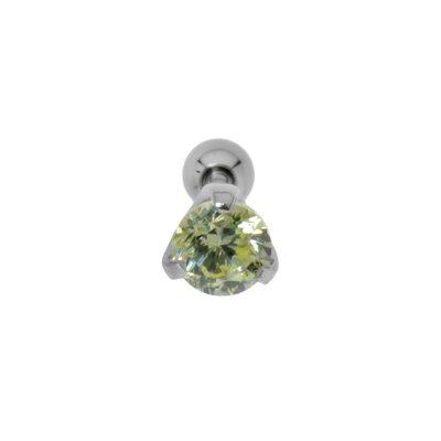 Piercing orecchio Metallo chirurgico 316L Zircone