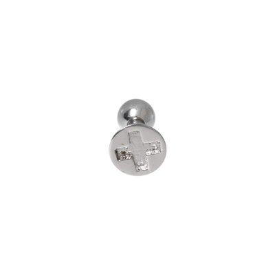 Piercing orecchio Metallo chirurgico 316L Croce
