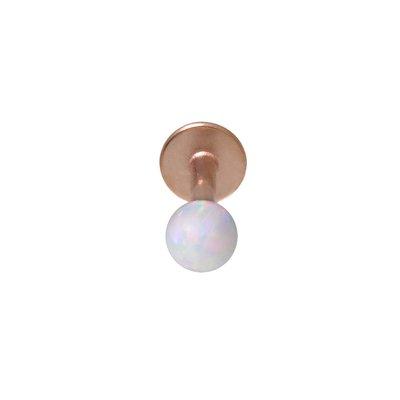 Piercing orecchio Metallo chirurgico 316L Perla sintetica Rivestimento PVD (colore oro)