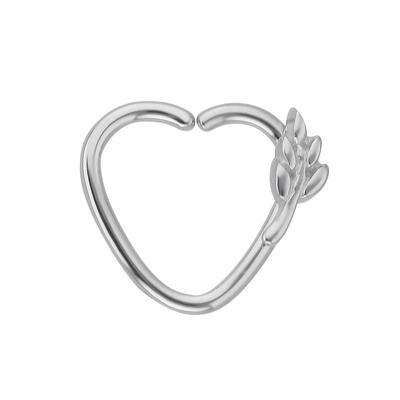 Piercing orecchio Metallo chirurgico 316L Foglia Disegno_floreale