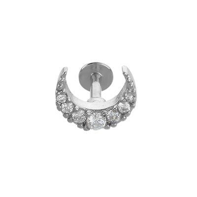 Ohrpiercing Chirurgenstahl 316L Kristall Mond Halbmond