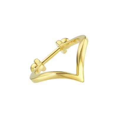 Piercing orecchio Metallo chirurgico 316L Rivestimento PVD (colore oro)