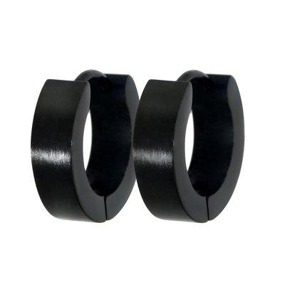 Orecchini Acciaio inox Rivestimento PVD (nero)