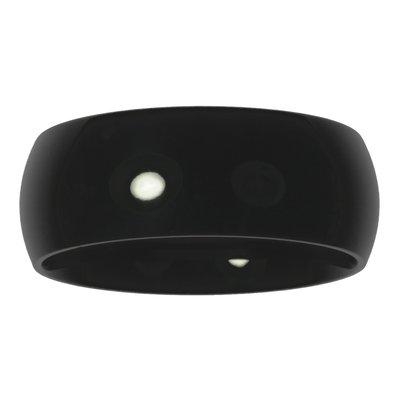 Anello acciaio Acciaio inox Rivestimento PVD (nero)