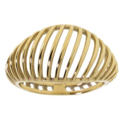 Bague de doigt Acier inoxydable Revêtement d´or (doré) Bandes Rayures Zébrure