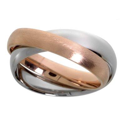 Fingerring Edelstahl Gold-Beschichtung (vergoldet) Ewig Schlaufe Endlos