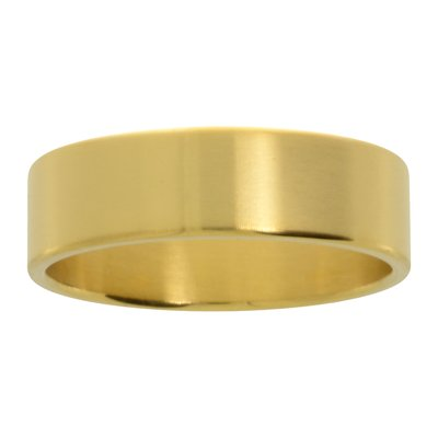 Edelstahlring Edelstahl PVD Beschichtung (goldfarbig)