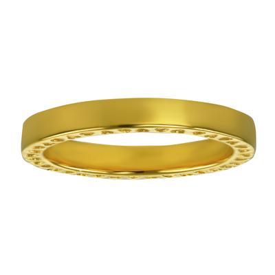 Edelstahlring Edelstahl PVD Beschichtung (goldfarbig) Herz Liebe
