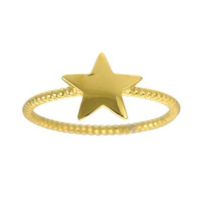 Anello Acciaio inox Rivestimento PVD (colore oro) Spirale Stella