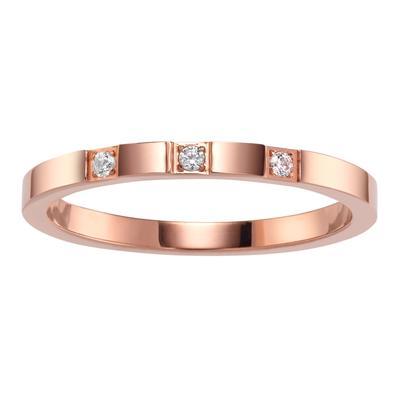 Edelstahlring Edelstahl PVD Beschichtung (goldfarbig) Kristall