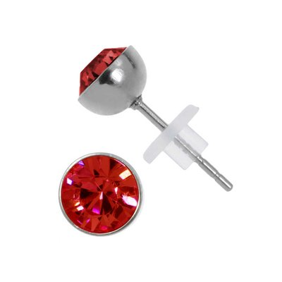 Orecchini Acciaio inox Metallo chirurgico 316L Cristallo Swarovski PVC