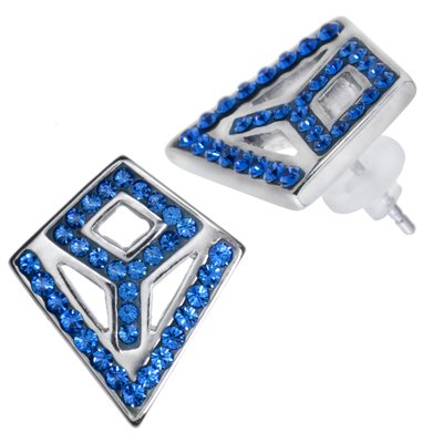 Ohrstecker Edelstahl Kristall PVC