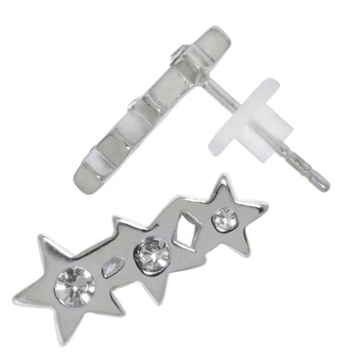Ohrstecker Edelstahl Kristall PVC Stern