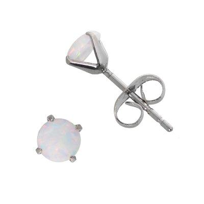 Ohrstecker Edelstahl Synthetischer Opal