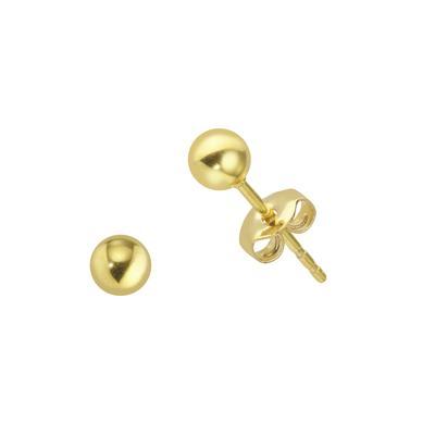 Ohrstecker Edelstahl PVD Beschichtung (goldfarbig) PVC