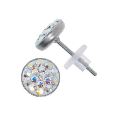 Ohrstecker Edelstahl Chirurgenstahl 316L Swarovski Kristall PVC
