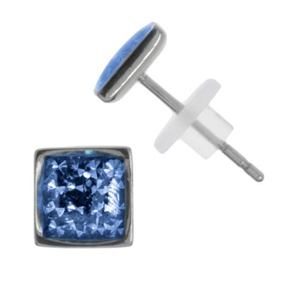 Ohrstecker Edelstahl Chirurgenstahl 316L Swarovski Kristall Epoxiharz
