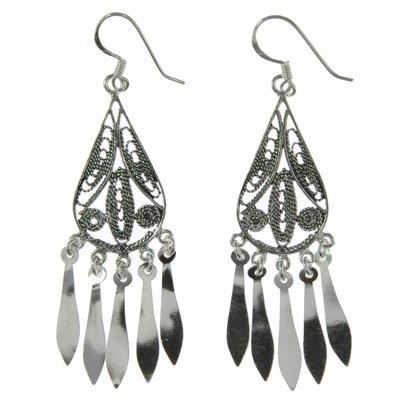 Ohrhänger Silber 925 Tribal_Zeichnung Tribal_Muster