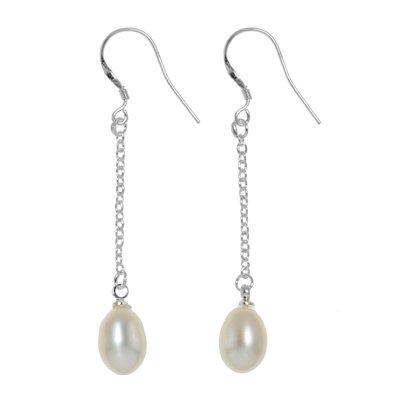 Ohrringe Silber 925 Süsswasserperle Tropfen Tropfenform Wassertropfen