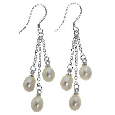 Orecchini Argento 925 Perle di acqua dolce Goccia Forma_di _goccia