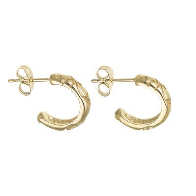 Orecchini Metallo chirurgico 316L Rivestimento PVD (colore oro) Foglia Disegno_floreale
