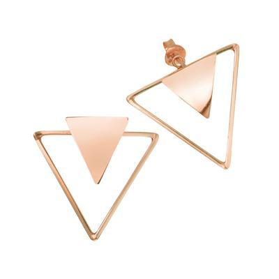 Ohrstecker Silber 925 Gold-Beschichtung (vergoldet) Dreieck