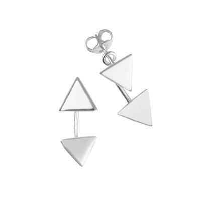 Pendientes Plata 925 Triángulo