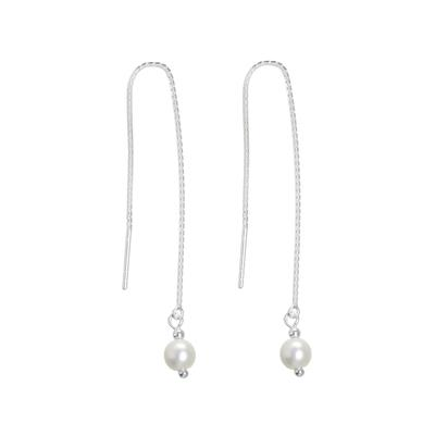 Ohrhänger Silber 925 Synthetische Perle