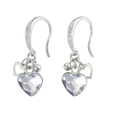 Ohrhänger Silber 925 Hochwertiger Kristall Herz Liebe