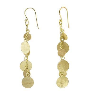 Shrestha Designs Ohrhänger Silber 925 Gold-Beschichtung (vergoldet)