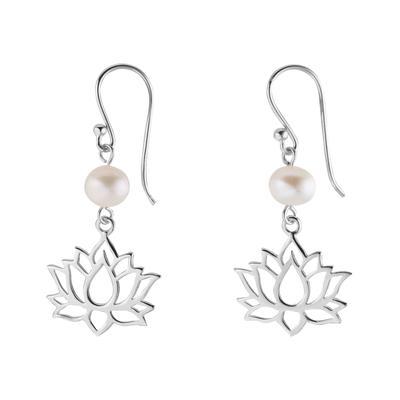 Ohrringe Silber 925 Süsswasserperle Blume