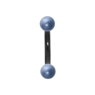 Augenbrauenpiercing Chirurgenstahl 316L PVD Beschichtung (schwarz) Synthetische Perle