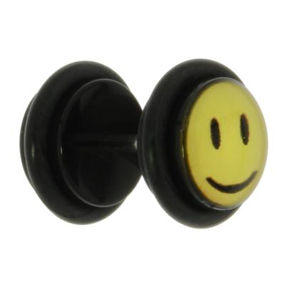 Fake-Plug Acrylglas Chirurgenstahl 316L Glas PVC Smiley Smilie Smily