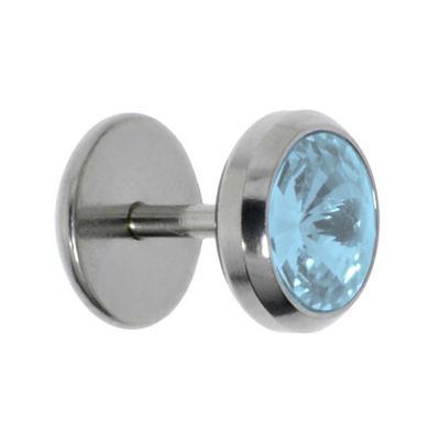 Fake-Plug Chirurgenstahl 316L Kristall