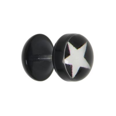 Fake-Plug Acrylglas Chirurgenstahl 316L Epoxiharz Stern