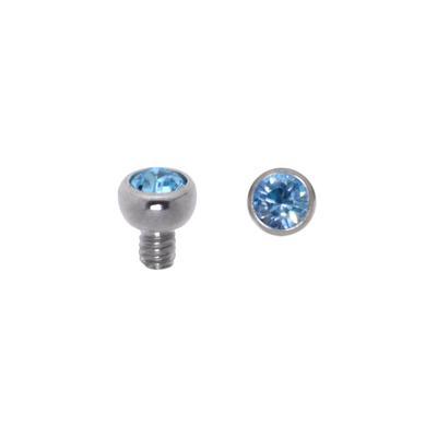 Dermal-Anchor Aufsatz Chirurgenstahl 316L Swarovski Kristall