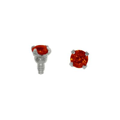 Dermal-Anchor Aufsatz Chirurgenstahl 316L Kristall