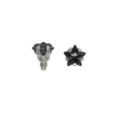 Embout Dermal-Anchor Acier chirurgical 316L Cristal Étoile