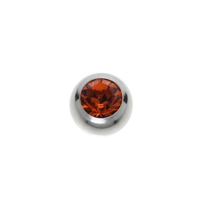 Chiusura piercing Metallo chirurgico 316L Cristallo di alta qualità