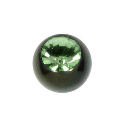 Piercingball Surgical Steel 316L Swarovski crystal Black PVD-coating