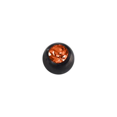 Piercingverschluss Chirurgenstahl 316L Swarovski Kristall PVD Beschichtung (schwarz)