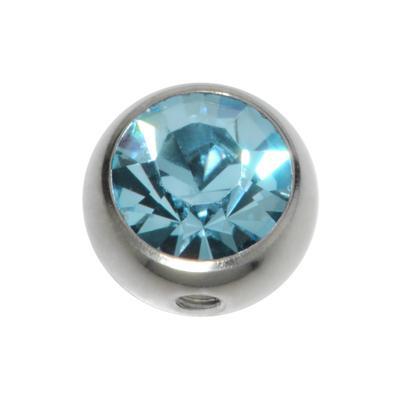 Piercingverschluss Chirurgenstahl 316L Kristall